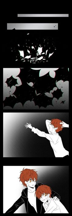 Wait this a full comic? God freaking dammit, I need to find the rest now. Mystic Messenger Comic, Mystic Messenger Characters, How To Do Magic, Saeran, Harry Potter Anime, Kawaii, Anime Couples, Anime Art, Drama