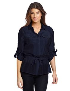 Amazon.com: Jones New York Women's 3/4 Sleeve Top With Ties: Clothing