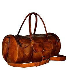 Divine vintage leather duffel bag 22 inches Brown >>> Check out this great product.