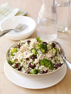 This recipe is so quick and easy to make: Tuna and Couscous Salad