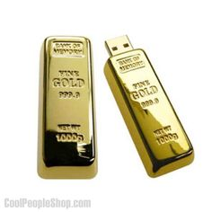 New Gold Bar flash drive Usb Flash Pen Drive Memory Electronics Storage, Cool Electronics, Usb Drive, Usb Flash Drive, Gadget World, Electronic Gifts, Custom Logos, Cool Gadgets, Computer Accessories