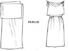 Drawing of a peplos. John Boardman, Greek Sculpture Archaic Period, p.68.