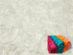 White rosette table linen from EfavorMart