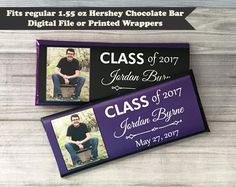 GRADUATION Photo Candy Wrapper, Graduation Wrapper, Graduation Favors, Graduation Party, Graduation Candy Labels, Printed or Digital File by PartiesR4Fun on Etsy