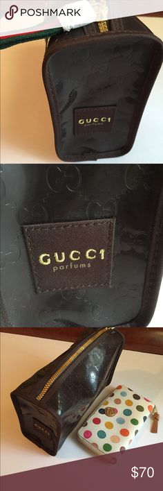 New Gucci parfums/ cosmetics bag Dimension 9 x 4 x 3 inches Gucci Bags Cosmetic Bags & Cases