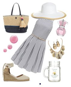 """""""Straw"""" by theonehillard on Polyvore featuring Castañer, Tory Burch, Palm Beach Jewelry, Forever New, Brooks Brothers, Topshop and NARS Cosmetics"""