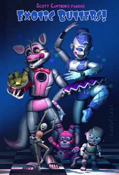 FNAF Sister Location - Exotic Butters! by LadyFiszi on DeviantArt