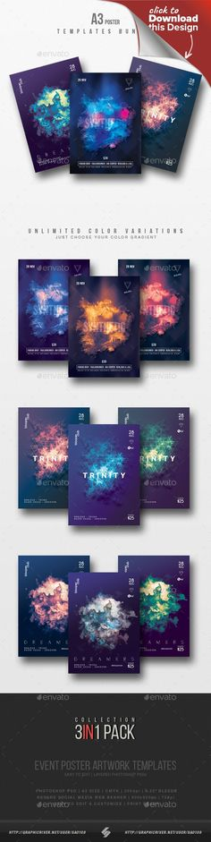 a3, abstract, alternative, artworks, chillout, chillstep, club, deep house, dj, drum and bass, dubstep, duotone, electro, event, fantasy, flyers, glow, liquid funk, marble, minimal, music, nebula, party, poster, print, progressive, psd, session, techhouse, techno Abstract marble design – party flyer templates Abstract design progressive party flyers collection – Pack of 3 creative A3 size posters / flyers for different genres of electronic music parties, events or sessions like deep hous...