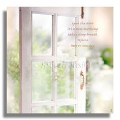 Text on card: Open the door, it's a new morning, take a deep breath, rejoice, this is your day. With lvoe from (c) Kreativ Insikt.
