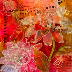 Jennifer Currie acrylic painting floral artwork ✫♦๏༺✿༻☼๏♥๏花✨✿写☆☀🌸✨🌿✤❀ ‿❀🎄✫🍃🌹🍃❁~⊱✿ღ~❥༺✿༻🌺♛☘‿FR May ♥⛩⚘☮️ ❋ Art Journal Inspiration, Painting Inspiration, Abstract Flowers, Abstract Art, Arte Floral, Watercolor Artists, Abstract Photography, Art Techniques, Art Images