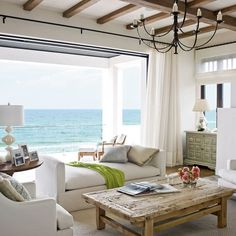 4 Mediterranean-Style Houses 2019 Living Room for Lounging Mediterranean-Style Houses with Ocean Views Coastal Living The post 4 Mediterranean-Style Houses 2019 appeared first on Curtains Diy. Coastal Bedrooms, Coastal Living Rooms, Coastal Homes, Coastal Decor, Coastal Style, Coastal Cottage, Coastal Farmhouse, Coastal Curtains, Coastal Entryway