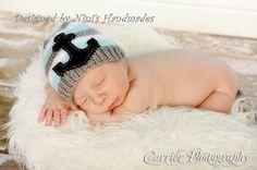 Knit Black Anchor Hat – Nini's Handmades
