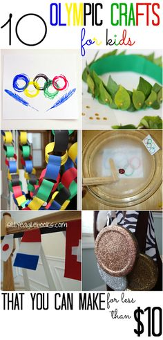 10 Olympics Crafts for Kids (that you can make for less than $10!) - All Cheap Crafts