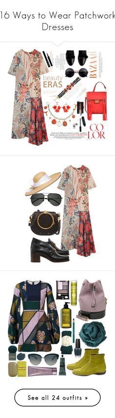 """16 Ways to Wear Patchwork Dresses"" by polyvore-editorial ❤ liked on Polyvore featuring waystowear, patchworkdresses, Biyan, Mellow World, VANINA, Kate Spade, Giorgio Armani, Bobbi Brown Cosmetics, Chloé and Gucci"