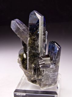 mineralia:  Zoisite var. Tanzanite from Tanzania by Weinrich Minerals