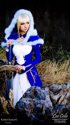 Saber by ~karenkasumimatsumoto on deviantART Young & Hungry, Cosplay, Fate Stay Night, Snow White, Deviantart, Disney Princess, Disney Characters, Attitude, Snow White Pictures