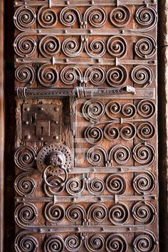 Old Church Door. (Detail of a door on the church of Saint-Juste-et-Sainte-Ruffine)