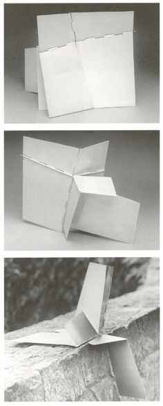 Lygia Clark, Monument in all Situations, hinged aluminum, 1964