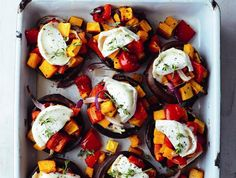 goat s cheese and roasted vegetables mega mushrooms more goat s cheese ...