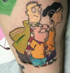 Some of the Coolest Classic Cartoon Network Tattoos