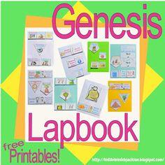 Genesis Lapbook & Cut & Glue Student Worksheets