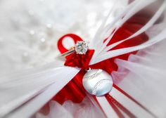 baseball wedding garter
