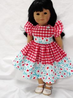 Andrea Dress - (45) Dresses - Doll Clothes by Jane Fulton