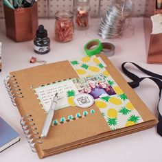Scrapbooks and pineapples, literally two of our favourite things. Try a scrapbooking workshop today. Available in London, Manchester & Glasgow