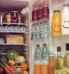 when everything in your fridge is happy to see you...