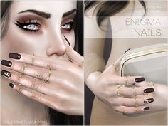 Enigma Nails N15 by Pralinesims at TSR via Sims 4 Updates
