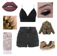 """Untitled #557"" by alicia-brockett ❤ liked on Polyvore featuring Topshop, Vans and Lime Crime"