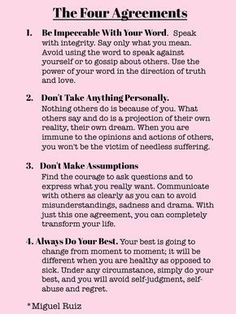 The Four Agreements by Don Miguel Ruiz is one of my favorites The Words, Life Advice, Good Advice, Career Advice, Inspirierender Text, Quotes To Live By, Life Quotes, Wisdom Quotes, Happiness Quotes