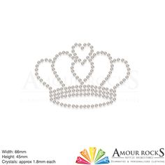 love crown hotfix rhinestone transfer motif apply to clothing with ease
