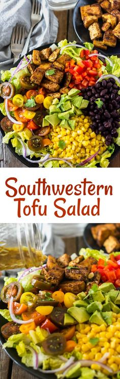 Southwestern Tofu Salad vegan, glutenfree #bbq