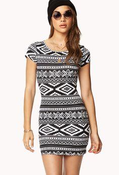 Tribal Print Bodycon Dress | FOREVER21 $13.80
