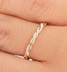 Fall Sale Twist Ring  Stacker Ring  Thumb by TheJewelryGirlsPlace, $19.96