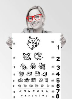 After countless years of playing Pokemon it's time to give your vision a check. Eye tests will no longer be such a burden when you're seeing Pokemon instead of letters and you won't feel so crummy when you realize you need glasses!