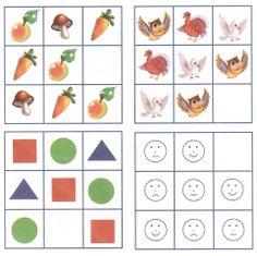 Maak sudoku's voor kinderen, dit kan je doen door leuke figuren te gebruiken in plaats van cijfers. Varieer ook met de moeilijkheidsgraad.