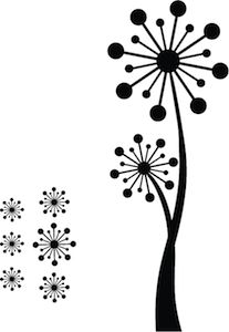 Poppy Tree Wall Decal