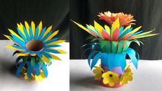 Origami Flower Vase !!! How To Make A Most Beautiful Paper Flower Vase  !!!