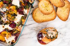 Broiled stone fruit with thyme and mascarpone cheese recipe