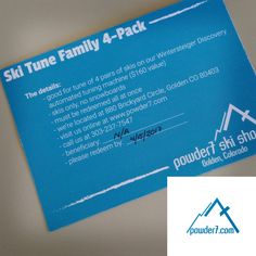 Powder7 has donated 4 standard ski tunes to the #bbb16 silent auction! That's a ski tune up for everyone in your family!