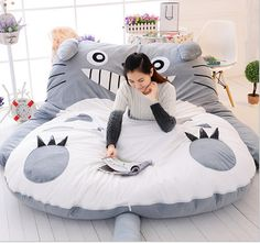 Cheap bedding set cars, Buy Quality bedding set hello kitty directly from China bedding sets blue Suppliers: Totoro Double bed Cushion/Sleeping Bag Huge Cute Cartoon Bed memory foam mattress Cover pad bedding set protector Mate