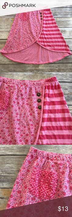 "Naartjie Pink Raindrops Skirt Pink dotted and striped skirt from Naartjie ""Raindrops"" line. VGUC Naartjie Bottoms Skirts"