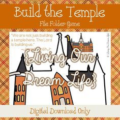 Provo City Center Temple (Build the Temple) File Folder Game/ No Sew Quiet Book Page