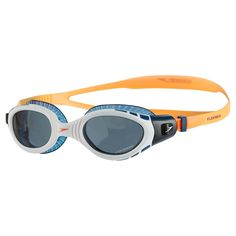 Buy Speedo Futura Biofuse Flexiseal Triathlon Swimming Goggles, Fluorescent Orange/White/Smoke from our Equipment by Sport range at John Lewis & Partners. Swimming Drills, Triathlon Swimming, Swimming Gear, Open Water Swimming, Swim Training, Triathlon Training, Triathlon Checklist, Triathlon Humor, Kids Triathlon