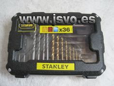 Caja con 36 accesorios Stanley ® Ref.: STA7222-XJ para taladrar y atornillar (Brocas, adaptador magnético y puntas para atornillar) www.jsvo.es