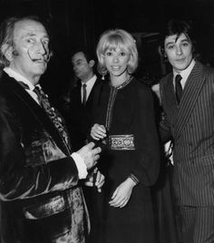 With Mireille Darc and Salvador Dali, 1970.