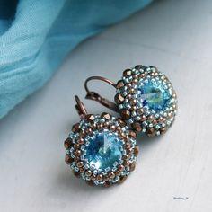 Bermuda Blue Beauty...náušnice Swarovski