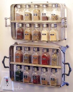 Casserole servers turned spice storage